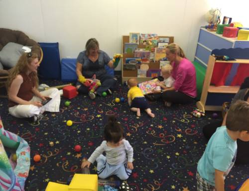 Our Baby and Me classes have resumed!  Come join the fun!