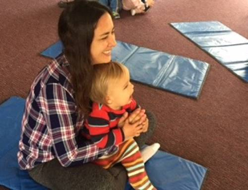 Baby and Me yoga is a wonderful addition to our classes on Thursdays.